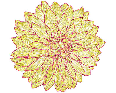 Embroidery Design: Mylar Magic Flower 17.69H x 8.02W