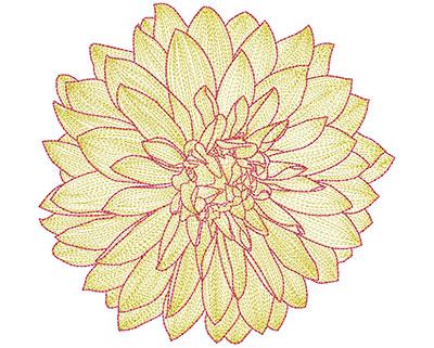 Embroidery Design: Mylar Magic Flower 29.26H x 9.67W