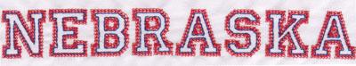 "Embroidery Design: Nebraska Name1.13"" x 8.02"""