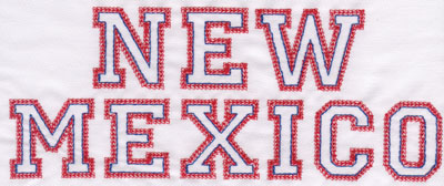 """Embroidery Design: New Mexico Name3.27"""" x 8.01"""""""
