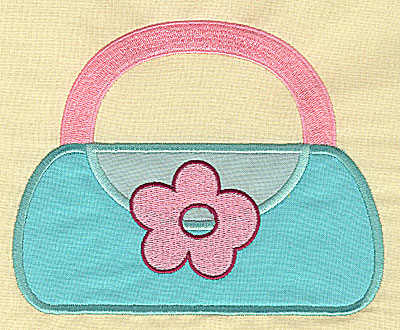 Embroidery Design: Girls handbag appliques 5.95w X 4.73h