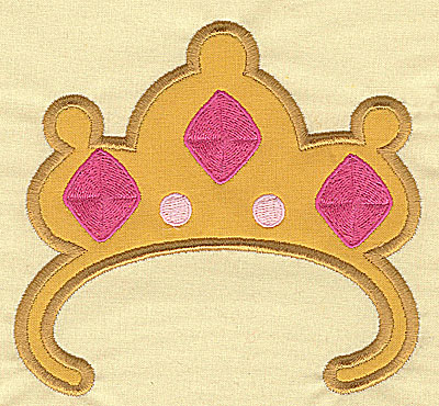 Embroidery Design: Crown applique 5.07w X 4.73h