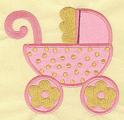 Embroidery Design: Baby Carriage applique 5.09w X 4.78h