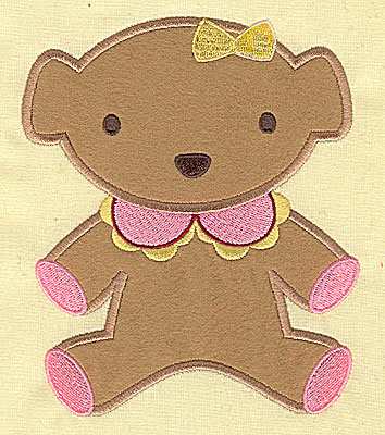 Embroidery Design: Teddy Bear applique 5.65w X 4.74h