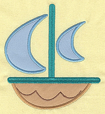 Embroidery Design: Toy Sailboat appliques 5.43w X 4.93h