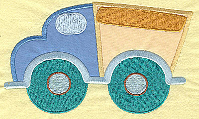 Embroidery Design: Toy Dump Truck appliques 6.73w X 4.09h
