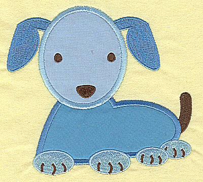 Embroidery Design: Puppy appliques 5.20w X 4.79h