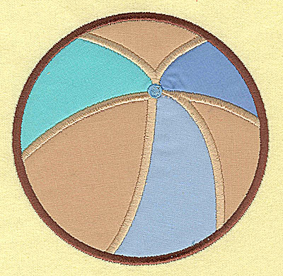 Embroidery Design: Beach Ball appliques 4.80w X 4.80h