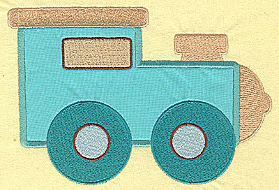 Embroidery Design: Toy Locomotive applique 6.74w X 4.59h