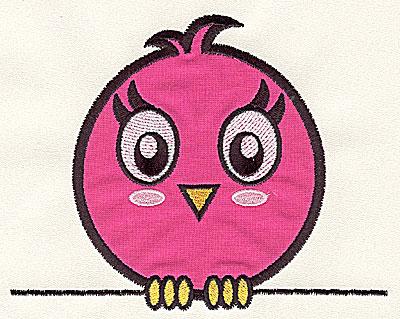 Embroidery Design: Bird on a Wire 1 applique medium 5.70w X 4.53h