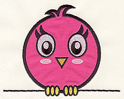Embroidery Design: Bird on a Wire 1 applique small 4.56w X 3.62h