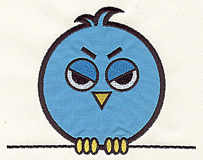 Embroidery Design: Bird on a Wire 3 applique large 7.41w X 5.88h