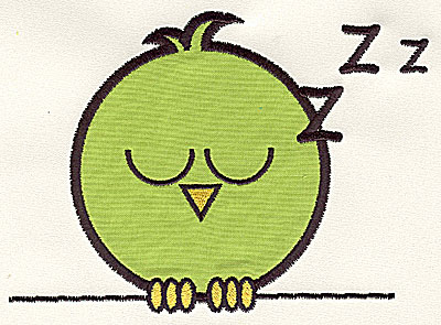 Embroidery Design: Bird on a Wire 6 applique medium 6.25w X 4.53h