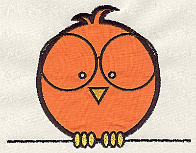 Embroidery Design: Bird on a Wire 7 applique small 4.56w X 3.62h