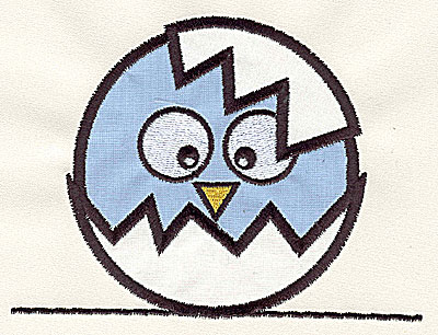 Embroidery Design: Bird on a Wire 8 double applique large 7.12w X 5.37h