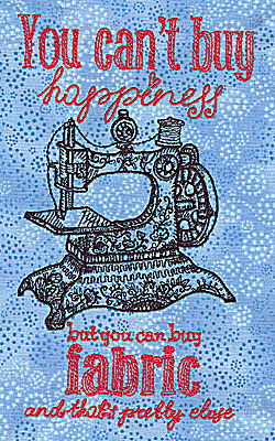 Embroidery Design: You can't buy happiness3.97w X 6.99h
