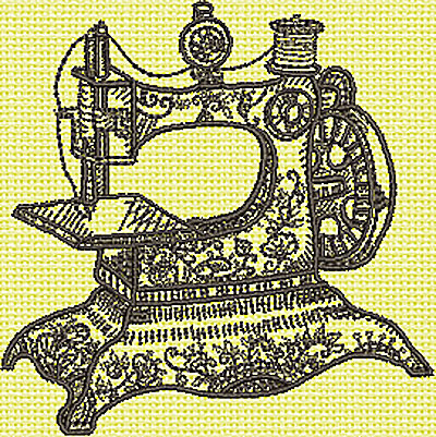 Embroidery Design: Antique Sewing Machine 3.65w X 3.70h