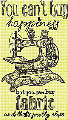 Embroidery Design: You can't buy happiness Large 6.50w X 11.50h