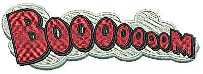 Embroidery Design: Booooooom 5.00w X 1.69h