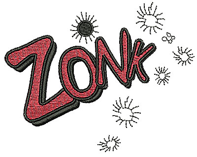 Embroidery Design: Zonk 3.88w X 3.00h