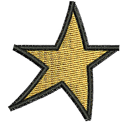 Embroidery Design: Star 1.50w X 1.63h