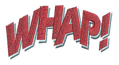 Embroidery Design: Whap 3.81w X 1.31h