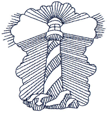 """Embroidery Design: Lighthouse In Fog - Outline3.28"""" x 3.47"""""""