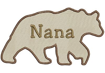 Embroidery Design: Nana Bear Sm 6.97w X 3.91h