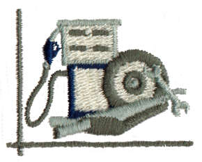 "Embroidery Design: Gas Pump/Tools1.61"" x 1.27"""