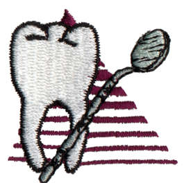 "Embroidery Design: Dentist/Hygienist1.52"" x 1.5"""