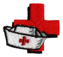 """Embroidery Design: Nurse1.42"""" x 1.26"""""""