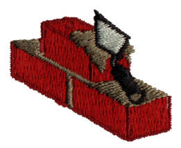 """Embroidery Design: Bricklaying1.43"""" x 1.57"""""""
