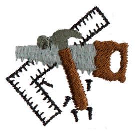 "Embroidery Design: Carpenter's Tools1.53"" x 1.49"""