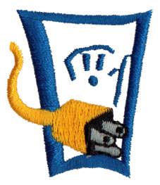 "Embroidery Design: Plug1.27"" x 1.52"""