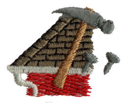"""Embroidery Design: Roofing1.45"""" x 1.13"""""""