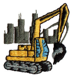 "Embroidery Design: Digger1.46"" x 1.48"""