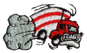 """Embroidery Design: Moving Truck1.63"""" x 0.93"""""""