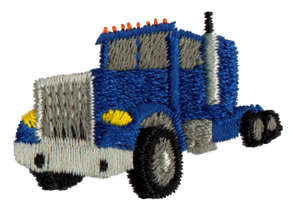 """Embroidery Design: Transport Rig1.63"""" x 1.12"""""""