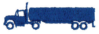 """Embroidery Design: Transport Truck1.8"""" x 0.55"""""""