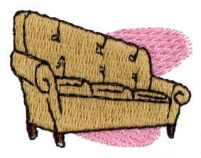 "Embroidery Design: Sofa1.58"" x 1.27"""