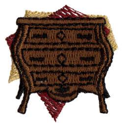 "Embroidery Design: Three Drawer Dresser1.44"" x 1.5"""