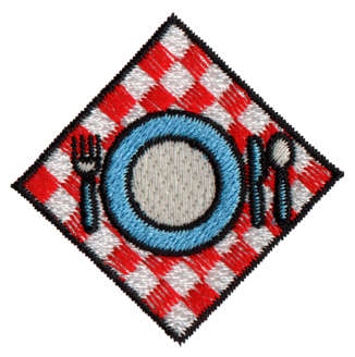 "Embroidery Design: Diner1.87"" x 1.87"""