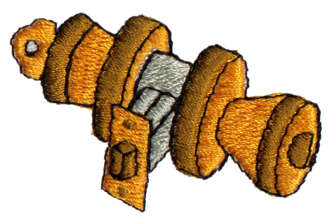 "Embroidery Design: Doorknob1.94"" x 1.21"""