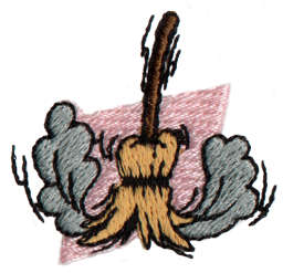 "Embroidery Design: Broom1.48"" x 1.39"""