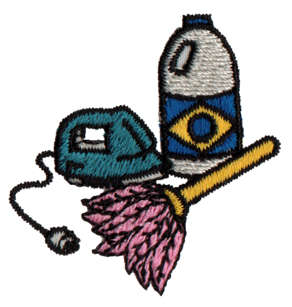 """Embroidery Design: Cleaning Items1.68"""" x 1.71"""""""