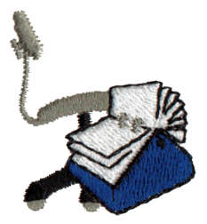 """Embroidery Design: Office Things1.2"""" x 1.48"""""""