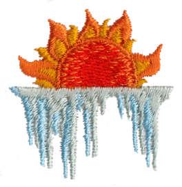 "Embroidery Design: Sun Ice1.47"" x 1.51"""