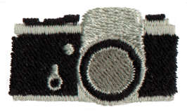 "Embroidery Design: Camera1.48"" x 0.84"""