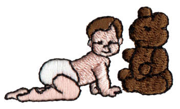 "Embroidery Design: Baby, Bear2.02"" x 1.15"""