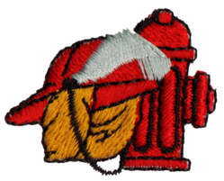 "Embroidery Design: Fireman Equipment1.42"" x 1.15"""